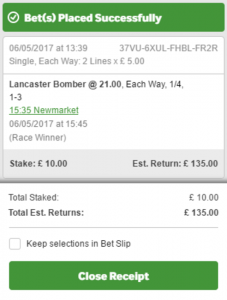 Each way bet offer example
