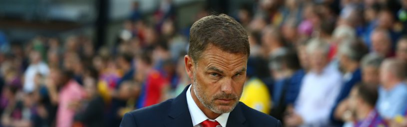 August 22, 2017 - London, England, United Kingdom - Crystal Palace manager Frank de Boer .during Carabao Cup 2nd Round   match between Crystal Palace and Ipswich Town at Selhurst Park Stadium, London,  England on 22 August 2017. (Credit Image: © Kieran Galvin/NurPhoto via ZUMA Press)