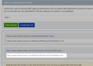 screenshot 2 affiliate links