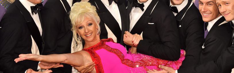 Debbie McGee, Neil Jones, Brendan Cole, Anton du Beke, Giovanni Pernice, Aljaz Skorjanec, Gorka Marquez and Kevin Clifton at the launch of Strictly Come Dancing 2017 at Broadcasting House in London.