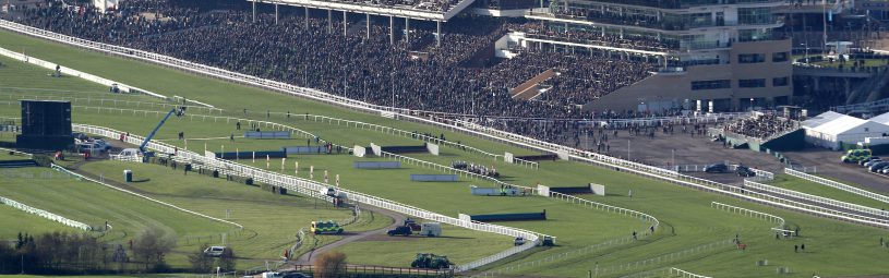 A general view of Cheltenham racecourse as runners and riders race in the Markel Insurance Amateur Riders' Handicap Chase during day one of the November Meeting at Cheltenham Racecourse, Cheltenham