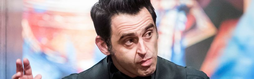 Ronnie O'Sullivan in action against Gary Wilson on day two of the Betfred Snooker World Championships at the Crucible Theatre, Sheffield.