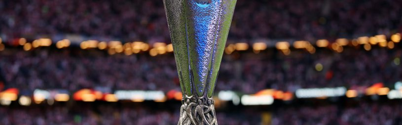The UEFA Europa League trophy on display before the UEFA Europa League Final at the Friends Arena in Stockholm, Sweden. PRESS ASSOCIATION Photo. Picture date: Wednesday May 24, 2017. See PA story SOCCER Final. Photo credit should read: Nick Potts/PA Wire