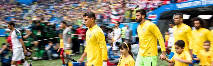 June 22, 2018 - Sankt Petersburg, Russia - 180622 Thiago Silva of Brazil prior the FIFA World Cup group stage match between Brazil and Costa Rica on June 22, 2018 in Sankt Petersburg..Photo: Petter Arvidson / BILDBYRÅN / kod PA / 92075 (Credit Image: © Petter Arvidson/Bildbyran via ZUMA Press)