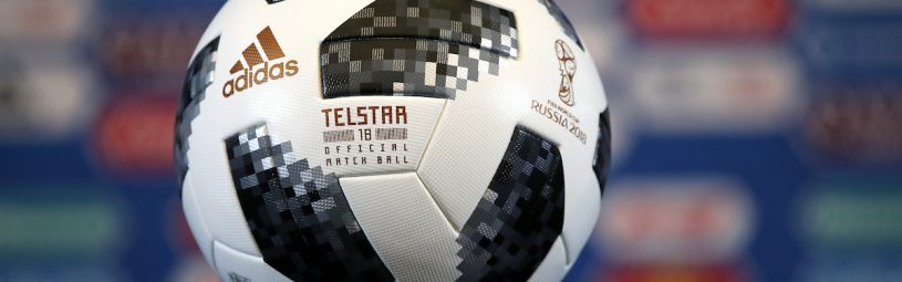 General view of the Telstar 18, official match ball for the FIFA 2018 World Cup, ahead of the draw at The Kremlin, Moscow. PRESS ASSOCIATION Photo Picture date: Friday December 1, 2017. See PA story SOCCER World Cup. Photo credit should read: Nick Potts/PA Wire. RESTICTIONS: Editorial use only. No transmission of sound or moving images. No use with any unofficial third party logos. No altering or adjusting of photographs.