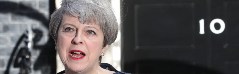"April 18, 2017 - London, England, U.K. - Prime Minister THERESA MAY calls for a UK general election for June 8. 'We need a general election and we need one now,' she said. ""I have only recently and reluctantly come to this conclusion but now I have concluded it is the only way to guarantee certainty for the years ahead.' (Credit Image: © Stephen Lock/i-Images via ZUMA Press)"