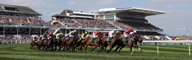 Runners and riders during the Gaskells Handicap Hurdle during Grand National Day of the 2018 Randox Health Grand National Festival at Aintree Racecourse, Liverpool. 2018 Randox Health Grand National Festival - Grand National Day - Aintree Racecourse