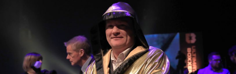 Ricky Hatton wears an Ultimate Boxxer golden robe during the Ultimate Boxxer competition at the M.E.N. Arena, Manchester.Ultimate Boxxer - M.E.N. Arena