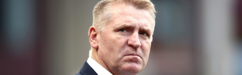 Aston Villa manager Dean Smith during the Premier League match at Villa Park, Birmingham.
