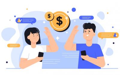 friends discuss unusual ways to make money